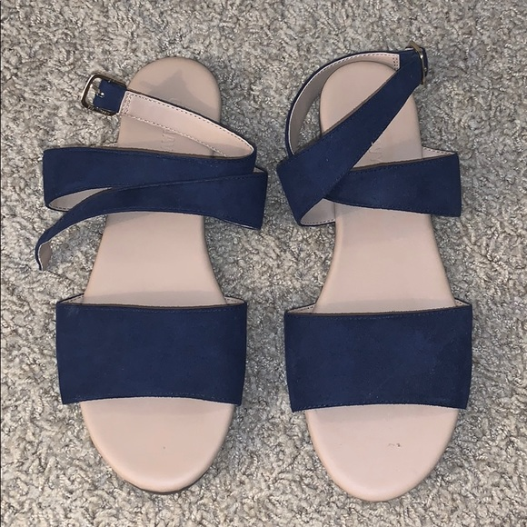 Womens Navy Blue Sandals Size 7